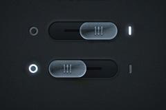 透明发光的拨动按钮PSD素材