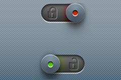 开锁与解锁按钮PSD素材