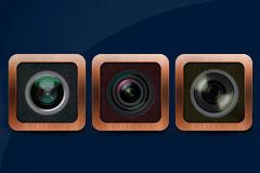 三款不同镜头PSD素材