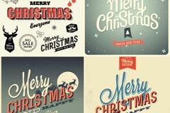 复古圣诞字体矢量素材