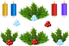 精美圣诞节装饰矢量素材