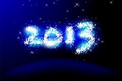 2013璀璨字体矢量素材