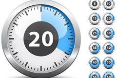 时钟倒计时矢量素材