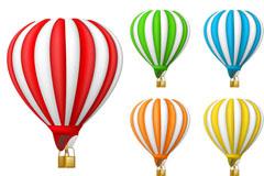 彩色热气球矢量素材