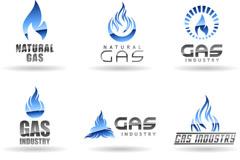 精致天然气公司标志矢量素材