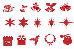 圣诞节驯鹿雪花铃铛PSD优发娱乐