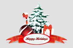 圣诞节元素PSD素材