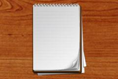 竖开本笔记本PSD素材
