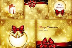 璀璨金色圣诞矢量素材