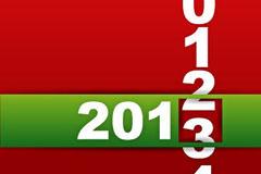 2013新年卡片矢量素材