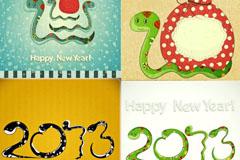 2013可爱卡通蛇矢量素材
