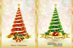 精美圣诞树矢量素材