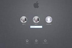 Mac-Lion系统登陆界面PSDw88优德