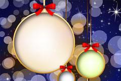圣诞幻彩光晕背景矢量素材