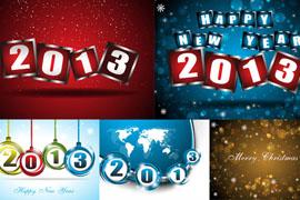 2013年新年主题矢量素材