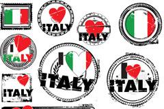 我爱意大利标志矢量素材