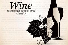 葡萄酒创意设计矢量素材