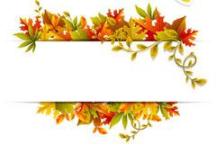 精美树叶装饰矢量素材