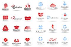 精美医疗标志logo设计矢量素材