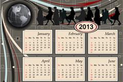2013商务日历矢量素材