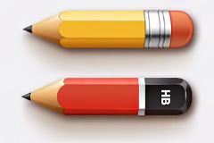 逼真小铅笔头PSD素材