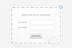 美式信封风格注册表格PSD素材