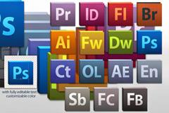 Adobe软件图标大全PSD素材