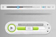 一款视频播放器控制面板PSD素材