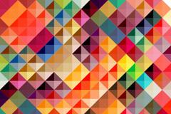 多彩方格背景矢量素材