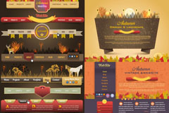 欧美网页设计矢量素材