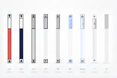 九款windows拖动条PSD素材