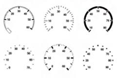 仪表表盘PSD素材