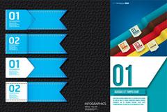 彩色创意标签矢量素材