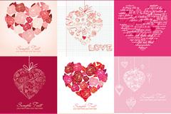 创意爱心卡片矢量素材