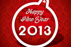 2013新年快乐背景矢量素材