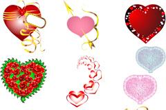 情人节创意爱心设计矢量素材