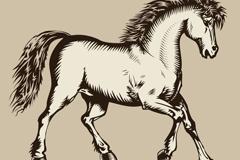 马版画风格图案矢量素材