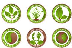 绿色创意环保图标矢量素材