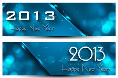时尚2013新年横幅矢量素材