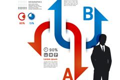 个性商业信息图矢量素材