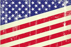 复古美国国旗设计矢量素材