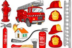 消防设施图标矢量素材