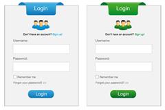 简洁网站登录设计矢量素材