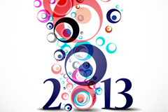2013新年彩色背景矢量素材