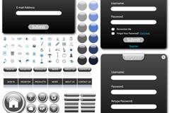 简约网页UI设计矢量素材