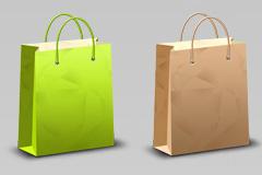 纸质购物袋PSD素材