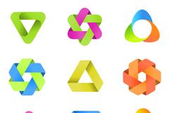精美抽象符号标志矢量素材