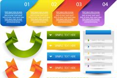 创意网页元素矢量素材