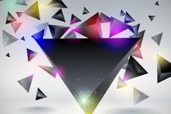 时尚三角体矢量素材