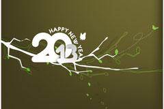 创意2013新年卡片矢量素材